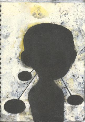 Quaderno con figura nera